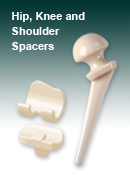 Hip, Knee and Shoulder Spacers